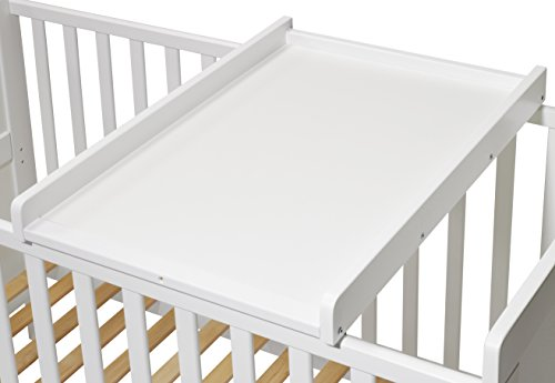 koko wickelbrett wickeltisch wickelaufsatz f r betten 140 70 und 120 60 cm weiss sch ne. Black Bedroom Furniture Sets. Home Design Ideas