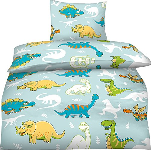 bettw sche kinder 100 135 dinosaurier sch ne babysachen. Black Bedroom Furniture Sets. Home Design Ideas