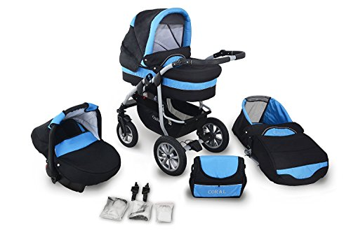 clamaro coral 2017 kinderwagen 3 in 1 kombi system 24. Black Bedroom Furniture Sets. Home Design Ideas