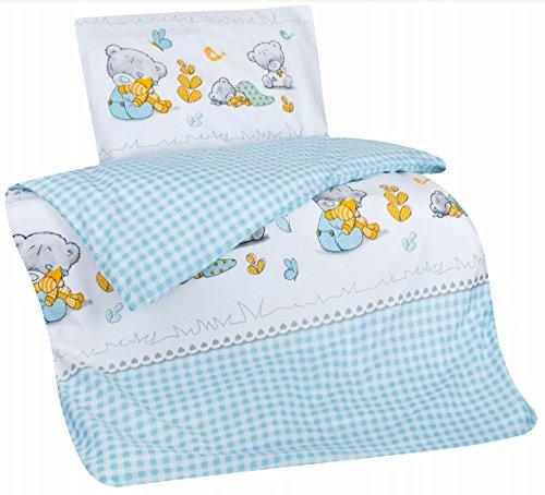 7dreams® Kinder Baby Bettwäsche Baumwolle 100x135cm ...