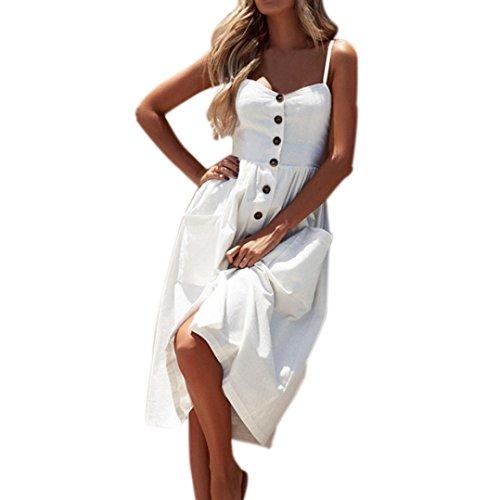 8590a80a53 Damen Sommerkleid URSING Kurzarm V-Ausschnitt Ananas Drucken Party Knielang  Swing Kleid Partykleid Cocktailkleid Sundress Frauen Elegante Strandkleider  ...